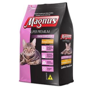 Ração Magnus Frango e Arroz Para Gatos Castrados