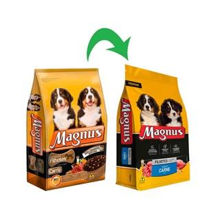 Ração Magnus Premium Carne para Cães Filhotes