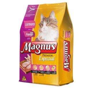 Ração Magnus Premium Especial Sabor Frango para Gatos Castrados