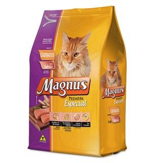 Ração Magnus Premium Especial Sabor Salmão Para Gatos Castrados