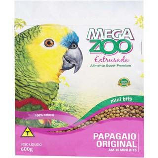 Ração Megazoo Extrusada Mini Bits Para Papagaios