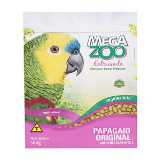Ração Megazoo Extrusada Regular Bits Para Papagaios
