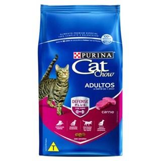 Ração Nestlé Purina Cat Chow Adultos Defense Plus Carne