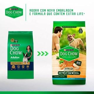 Ração Nestlé Purina Dog Chow Extra Life Frango e Arroz para Cães Adultos Raças Pequenas
