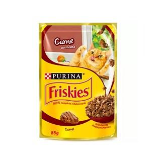 Ração Nestlé Purina Friskies Sachê Carne ao Molho para Gatos