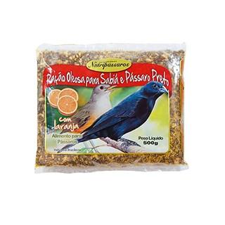 Ração Oleosa Nutripássaros com Laranja para Sabiá e Pássaro Preto