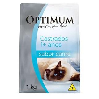 Ração Optimum Carne para Gatos Adultos Castrados 1+ anos