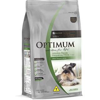 Ração Optimum Frango e Arroz para Cães Adultos Raças Pequenas e Minis 1+ Anos