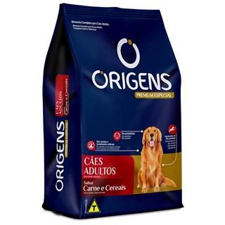 Ração Origens Premium Especial Sabor Carne e Cereais para Cães Adultos