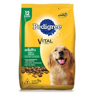 RAçãO PEDIGREE ADULTO CARNE & VEGETAIS - 15KG _ NUTRIçãO COMPLETA