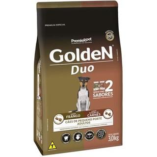 Ração Premier Golden DUO Frango à Moda Caipira e Seleção de Carnes ao Molho Mini Bits