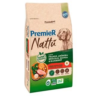 Ração Premier Nattu Sabor Abóbora para Cães Adultos de Raças Médias e Grandes
