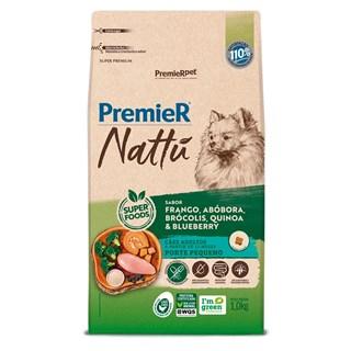 Ração Premier Nattu Sabor Abóbora para Cães Adultos de Raças Pequenas