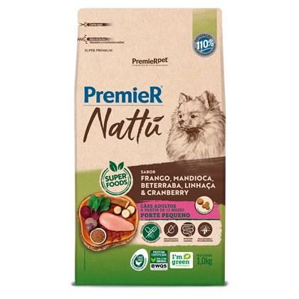 Ração Premier Nattu Sabor Mandioca para Cães Adultos de Raças Pequenas