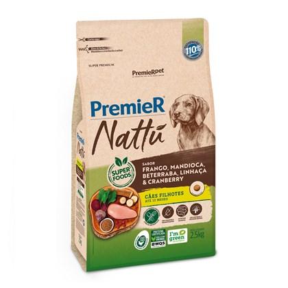 Ração Premier Nattu Sabor Mandioca para Cães Filhotes de Raças Médias e Grandes