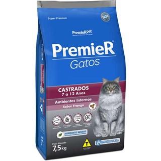 Ração Premier Pet Ambientes Internos Gatos Castrados 7 a 12 anos - Frango