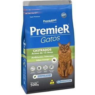 Ração Premier Pet Ambientes Internos Gatos Castrados Acima de 12 Anos - Frango