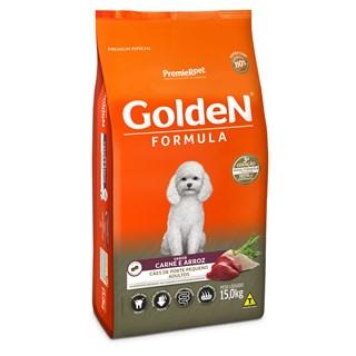Ração Premier Pet Golden Formula Sabor Carne e Arroz Para Cães Adultos De Raças Pequenas