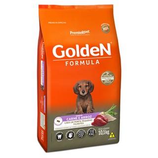 Ração Premier Pet Golden Formula Sabor Carne e Arroz Para Cães Filhotes De Raças Pequenas