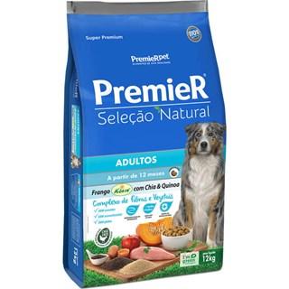 Ração Premier Pet Seleção Natural Frango Korin com Chia & Quinoa Cães Adultos