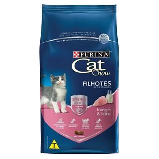 Ração Purina Cat Chow Sabor Frango & Leite Para Gatos Filhotes