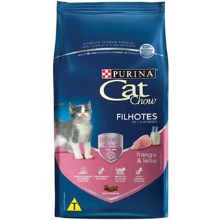 Ração Purina Cat Chow Sabor Leite. Carne e Peixe Para Gatos Filhotes