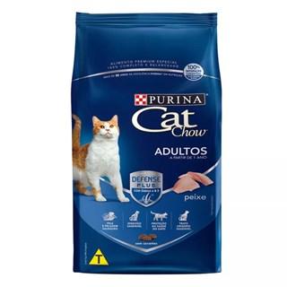 Ração Purina Cat Chow Sabor Peixe Para Gatos Adultos
