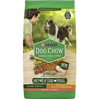 Ração Purina Dog Chow Carne e Arroz  Para Cães Adultos De Raças Pequenas