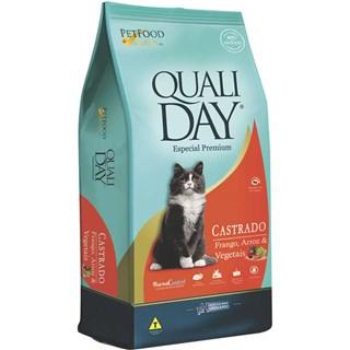 Ração Qualiday Cat Premium Sabor Frango Para Gatos Adultos Castrados