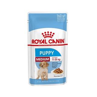 Ração Royal Canin Sachê Size Health Nutrition Puppy Wet para Cães Filhotes Raças Médias