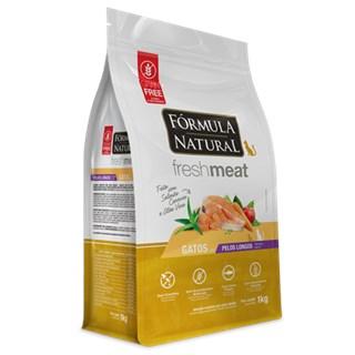 Ração Seca Fórmula Natural Fresh Meat Salmão para Gatos Pelos Longos