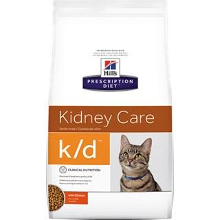 Ração Seca Hills Prescription Diet K/D Cuidado Renal para Gatos Adultos