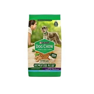 Ração Seca Nestlé Purina Dog Chow Extra Life Frango e Arroz  7+ para Cães Adultos