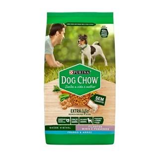 Ração Seca Nestlé Purina Dog Chow Extra Life Frango e Arroz Cães Filhotes Raças Minis e Pequenas