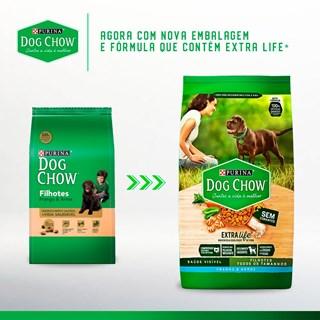 Ração Seca Nestlé Purina Dog Chow Extra Life Frango e Arroz Cães Filhotes Todas as Raças