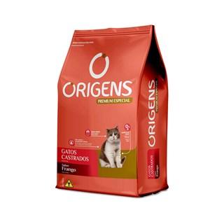 Ração Seca Origens Premium Especial Frango Gatos Castrados
