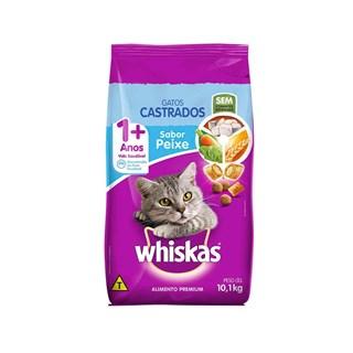 Ração Seca Whiskas Peixe para Gatos Adultos Castrados