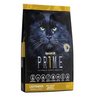 Ração Special Cat Prime 2ª Geração Sabor Frango e Arroz Para Gatos Adultos Castrados