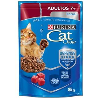 Ração Úmida Cat Chow 7+ Sabor Carne Ao Molho Para Gatos Adultos
