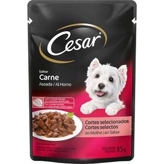 Ração Úmida Cesar Sabor Carne Assada Ao Molho Para Cães Adultos