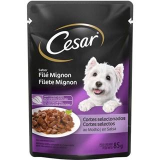 Ração Úmida Cesar Sabor Filé Mignon Ao Molho Para Cães Adultos