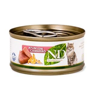 Ração Úmida Farmina N&d Grain Free Sabor Atum Com Camarão Para Gatos Adultos