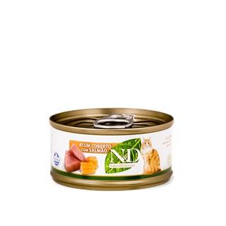 Ração Úmida  Farmina N&d Grain Free Sabor Atum Com Cobertura De Salmão Para Gatos Adultos