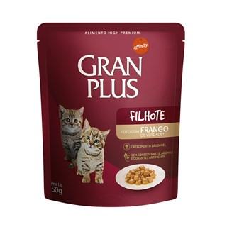 Ração Úmida Guabi Gran Plus Sabor Frango Para Gatos Filhotes