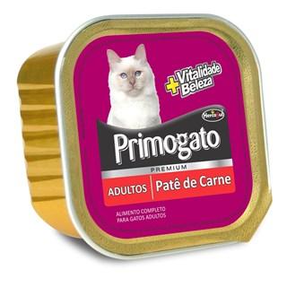 Ração Úmida Hercosul Primogato Patê Sabor Carne para Gatos Adultos
