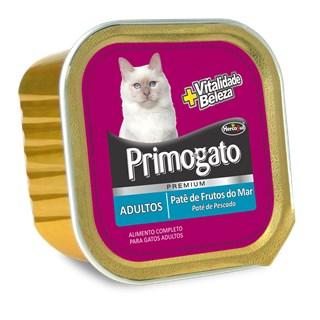 Ração Úmida Hercosul Primogato Patê Sabor Frutos do Mar Para Gatos Adultos