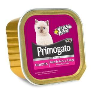 Ração Úmida Hercosul Primogato Patê Sabor Peru e Frango para Gatos Filhotes
