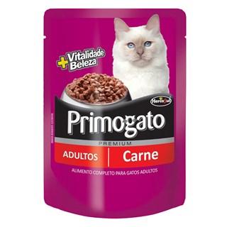 Ração Úmida Hercosul Primogato Sabor Carne Para Gatos Adultos