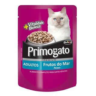 Ração Úmida Hercosul Primogato Sabor Frutos Do Mar Para Gatos Adultos