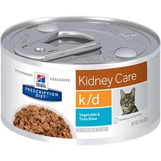 Ração Úmida Hills Feline K/D Sabor Atum e Vegetais Para Gatos Adultos